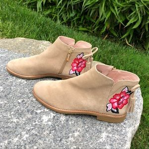 Kate Spade Belville Booties Embroidered Ankle Boot